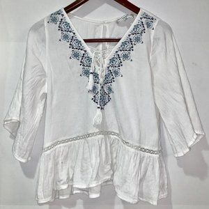 Abercrombie & Fitch boho embroidered blouse